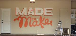 Hand Lettered Mural - Make your garage an inspiration room.