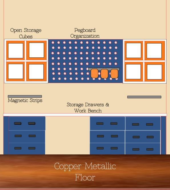 Garage Cabinets Ikea - Sketch of How to Create Workbench