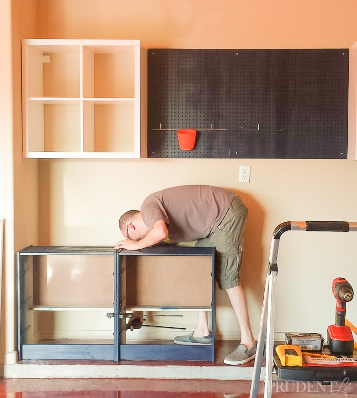 Using IKEA pieces can help you create your dream garage workbench on a budget. Adding all this storage is a great step toward having an organized garage!