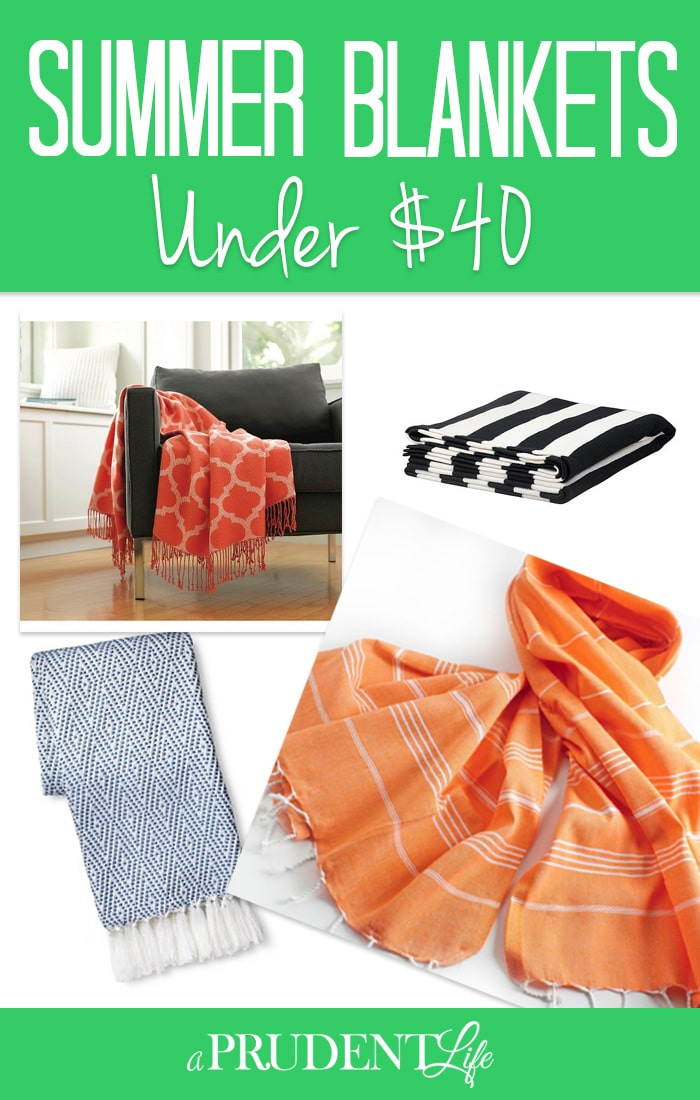 The perfect summer blanket is hard to find, but I searched out seven great options to liven up your living space. Check out my favorite throws for summer, all under $40!