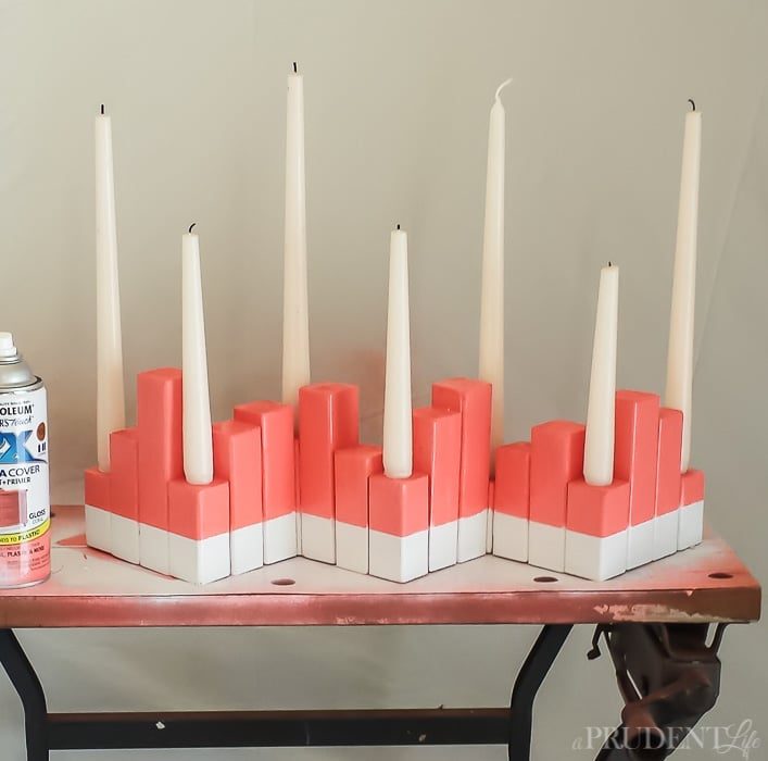 Turn a $2 2x2 into a fun summer centerpiece in just a few steps! Complete tutorial included.