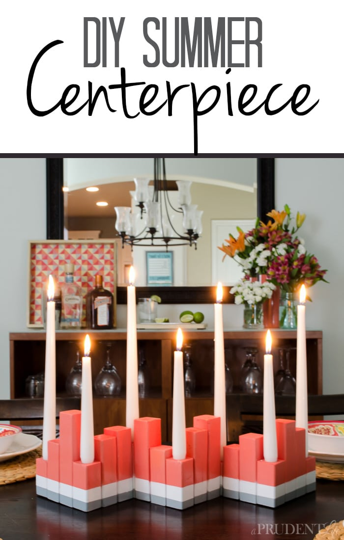 Need to brighten your dining room for summer? Follow this tutorial for an inexpensive modern centerpiece today!