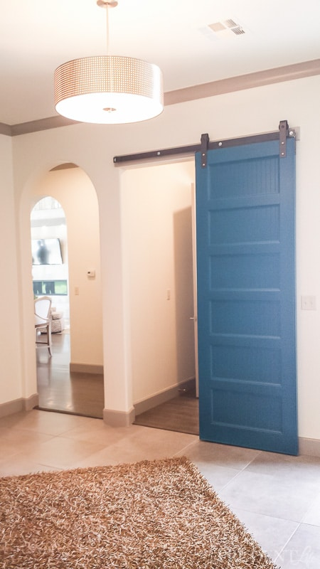 Barn doors are in more fun in blue!