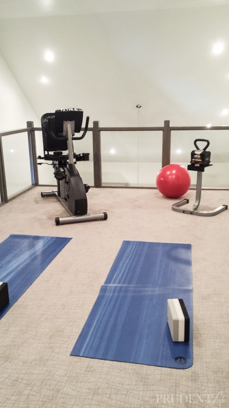 This exercise room is in a loft over the closet - what a house!