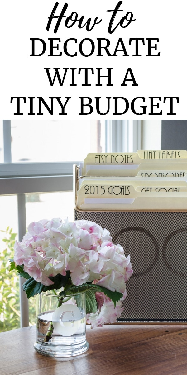How to decorate with a tiny budget - picture of customize clean vase with monogram