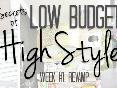 Week #1 in the Low Budget, High Style series is all about revamping items to make them work in your current style. Everything from lighting and accessories to furniture can be updated in unique ways to achieve the look you want without sacrificing your retirement account!
