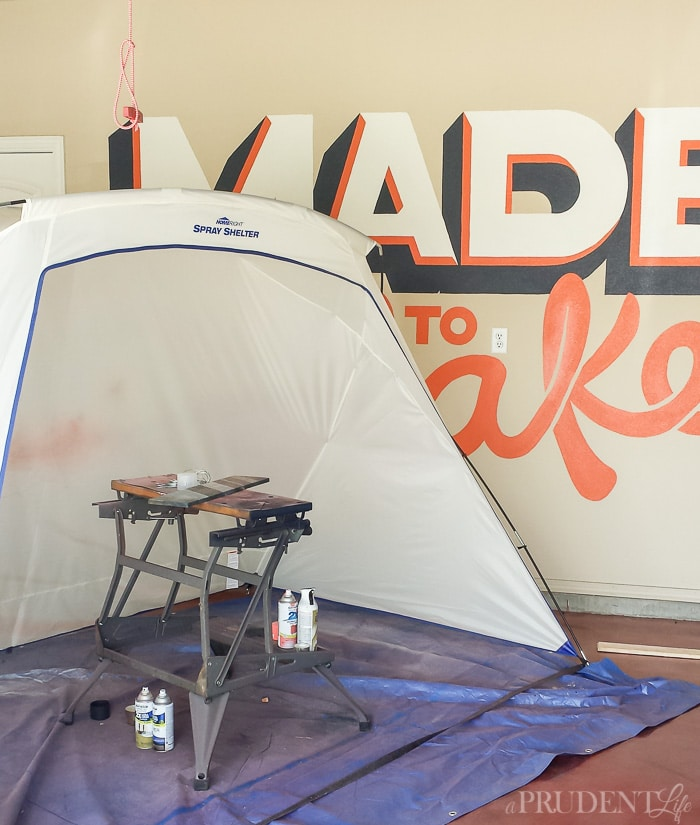Making spray painting mess free with a spray shelter!