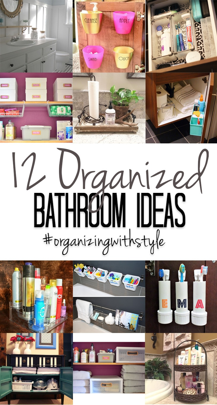 Messy bathroom? Check out these 12 creative ideas for bathroom organization.