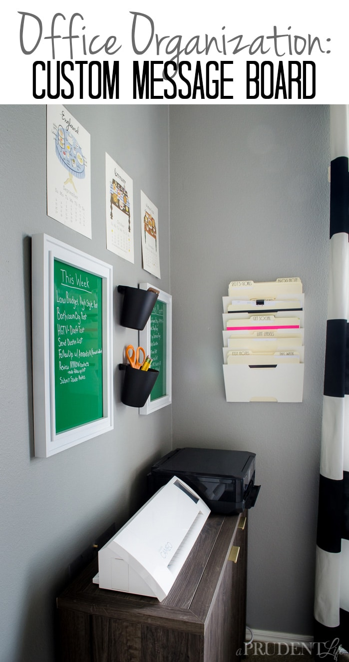 Keep track of your most important tasks on a DIY dry erase board. You won't believe how simple and inexpensive it is to create a board that matches your office!
