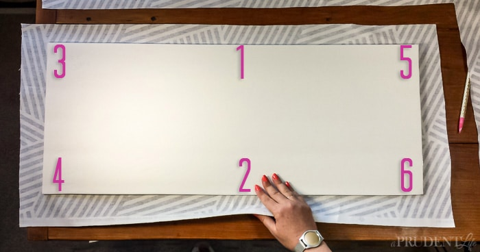 How to Add Fabric to the Back of a Bookcase