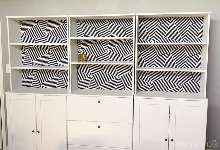 IKEA Bookcases + Nate Berkus Fabric = Serious Style on a Budget!