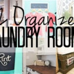Laundry room organization ideas for spaces large and small.