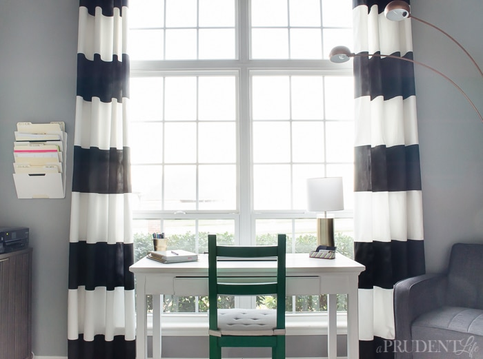 Curtains Ideas brown white striped curtains : DIY Black & White Striped Curtains