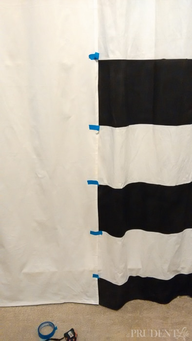 The ONE trick for painting striped curtains that you NEED to know!
