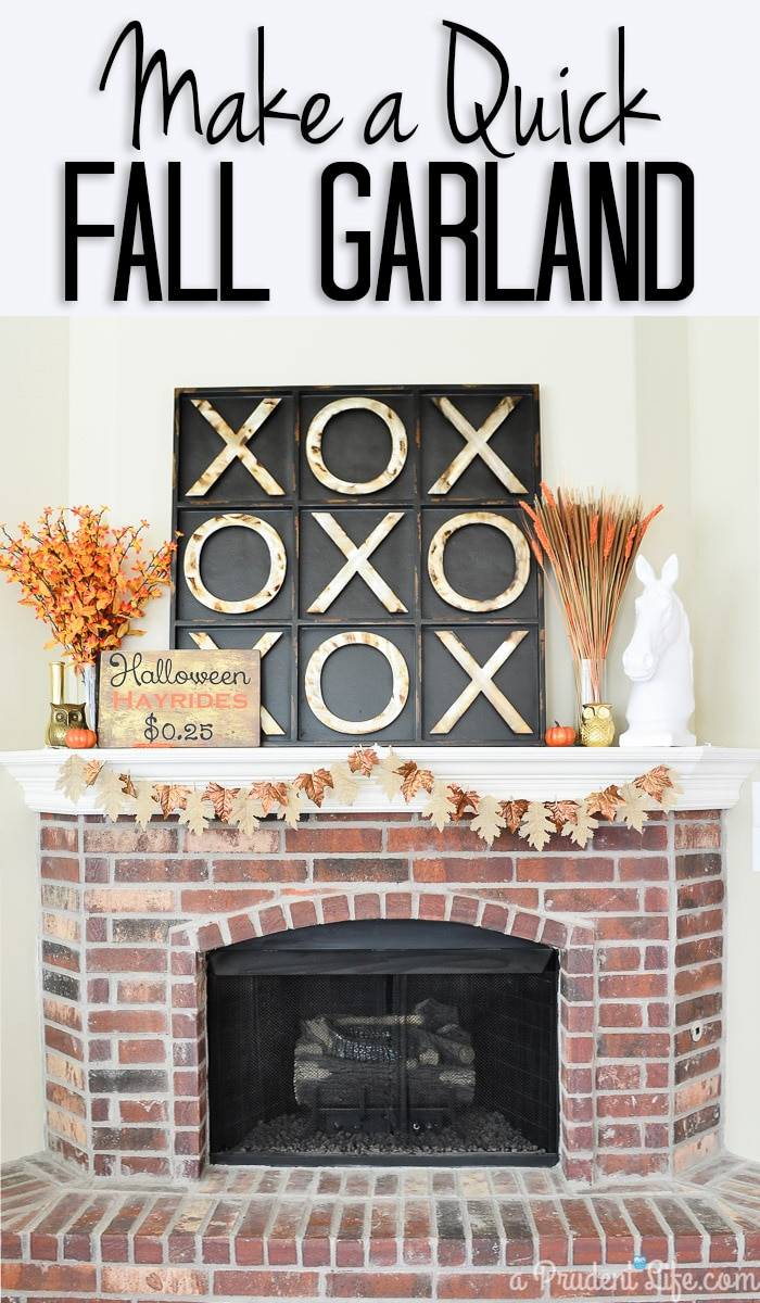 Make this fall leaf garland in under 15 minutes with this quick tutorial. Wait until you see the simple way they are attached - no glue needed!