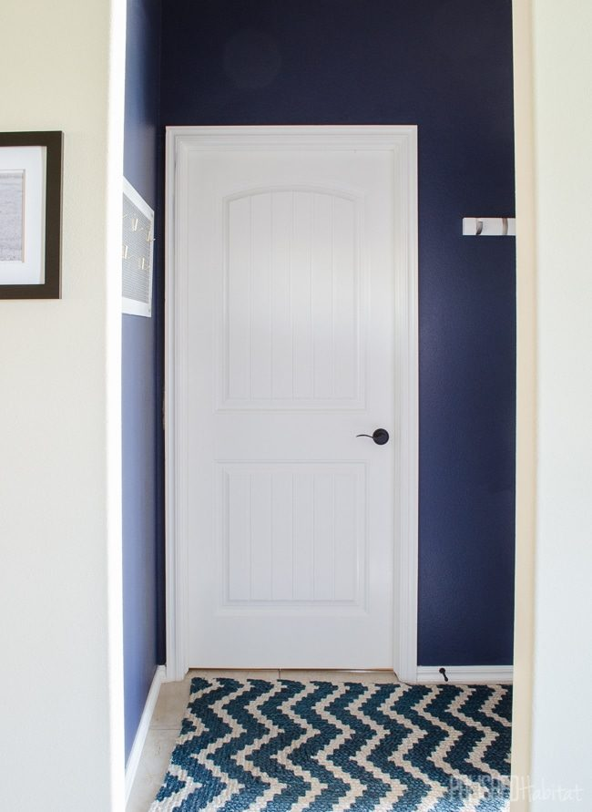 Even the tiniest spaces can be organized. This 15 square foot entryway provides tons of function and style!