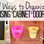 9 Suprising Ways to Organize Using Cabinet Doors