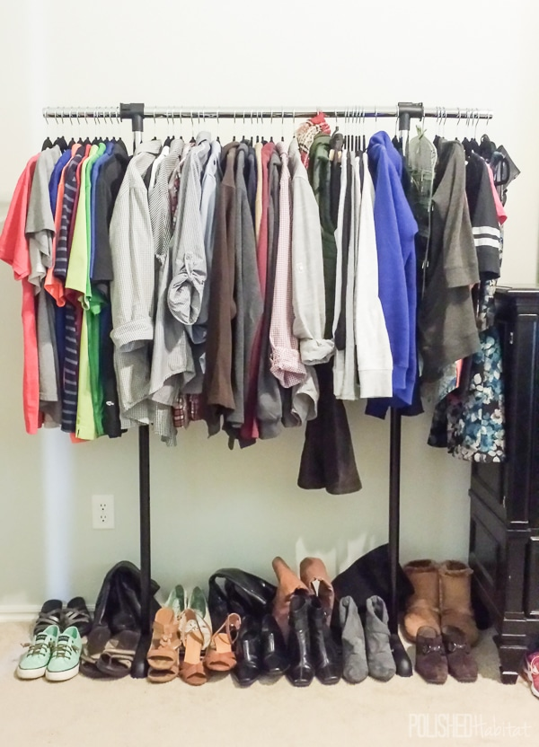 Expand clothing storage with a freestanding garmet rack!