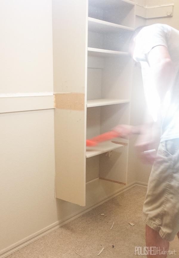 Master Walk In Closet Empty