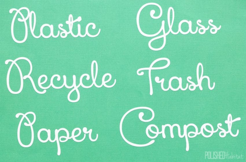 Recycling Labels for Sale on Etsy