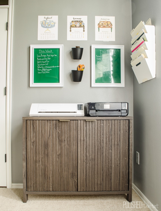 Make a command center in your office to keep things organized.