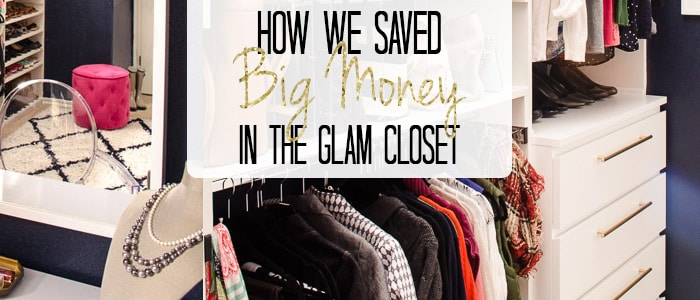 My glam closet dreams didn't match my real closet budget. With lots of research and planning, I was still able to create a completely organized and beautiful space without cashing in our retirement savings. Click for the tips on where we saved!