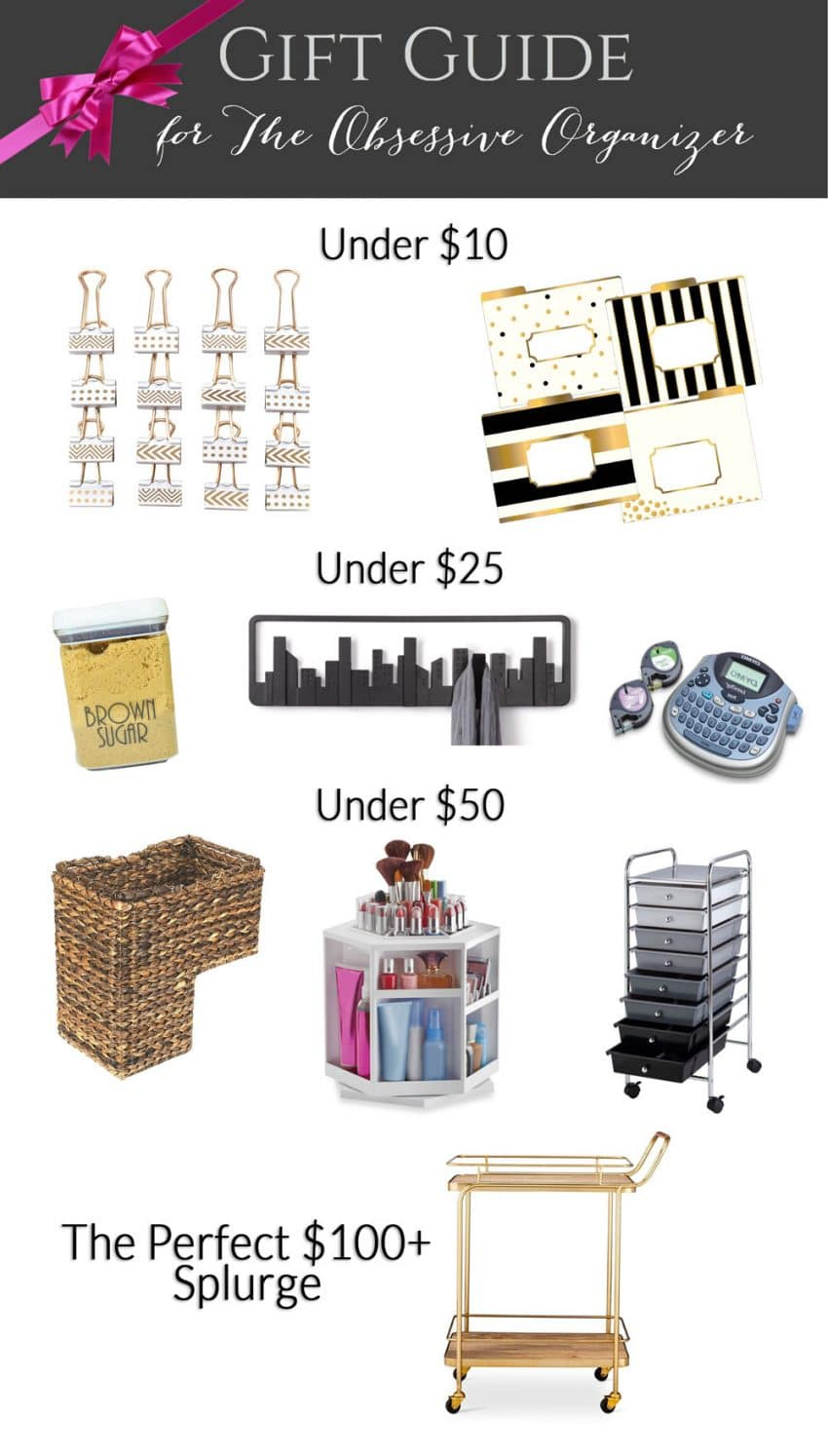 Organizing Gift Guide by Polished Habitat - Options for every budget including under $10, $25, & $50
