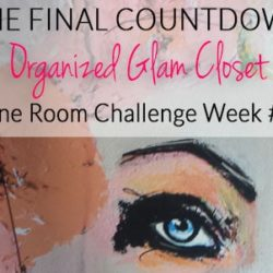 Week #5 of #6 in a crazy DIY closet makeover - art by Leigh Viner