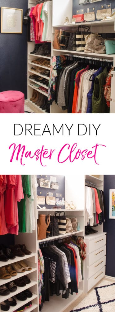 Master Closet Organization - We took a messy master closet and turned it into my dream space with clever DIYs to get things organized in style!