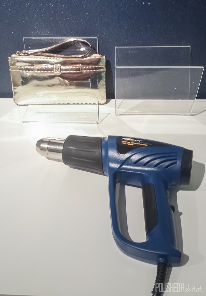 Use a HomeRight Heat Gun to bend acrylic sheets.