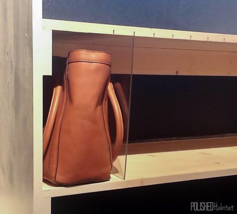 Custom Purse Storage - acrylic dividers