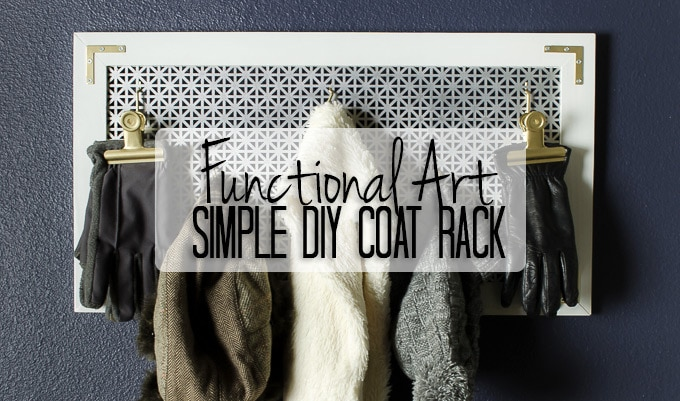 Looking for organization AND style? This DIY coat rack provides both on a budget and is the perfect entry-level DIY project for your entryway.