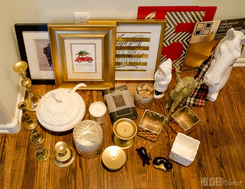 5 Tips for Creating Christmas Vignettes - Tip 3: Hunt & Gather