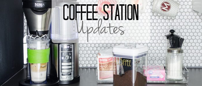The Updated Coffee Bar {Organized Entertaining}