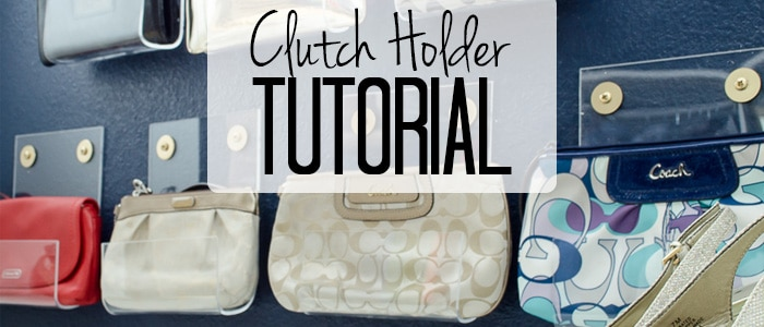 Organize your closet in style with this pretty purse storage. Can you believe these acrylic clutch holders are a DIY project?
