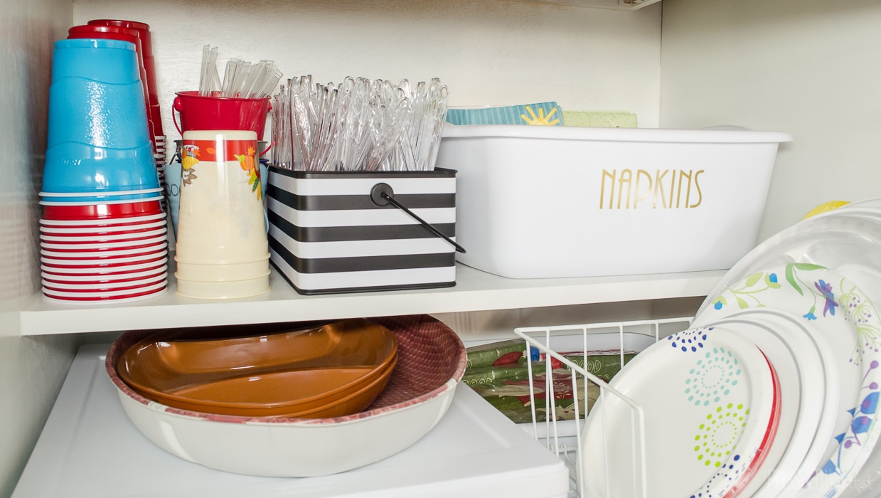 6 Tips to Control Cabinet Chaos - Cabinet Organizing Before & After Photos!