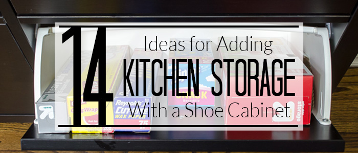 Need more space in your kitchen? Add an IKEA Hemnes Shoe Cabinet! I can't believe all the things you can store in them!