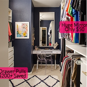Closet Organizing Ideas - Our DIY closet saved tons of money!