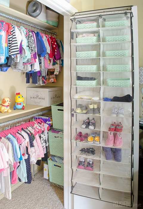 Reach in closet organization for kids polished habitat for Baby organizer ideas