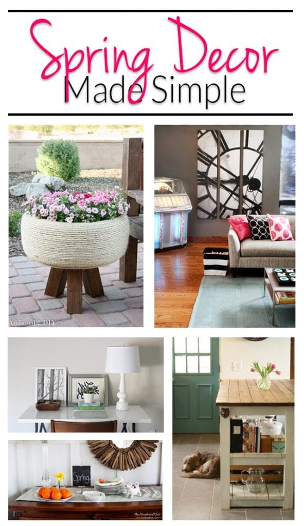 Simple spring home decor ideas polished habitat for Home design ideas facebook