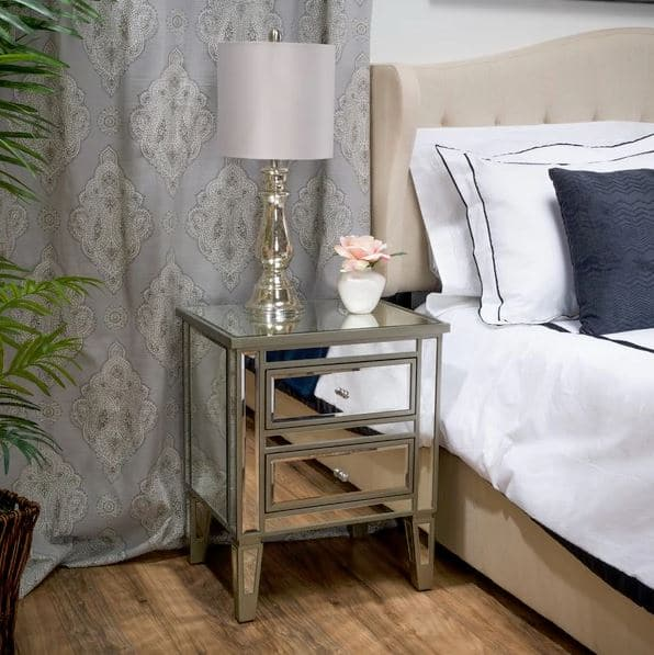 Mirrored Nightstand Awesome