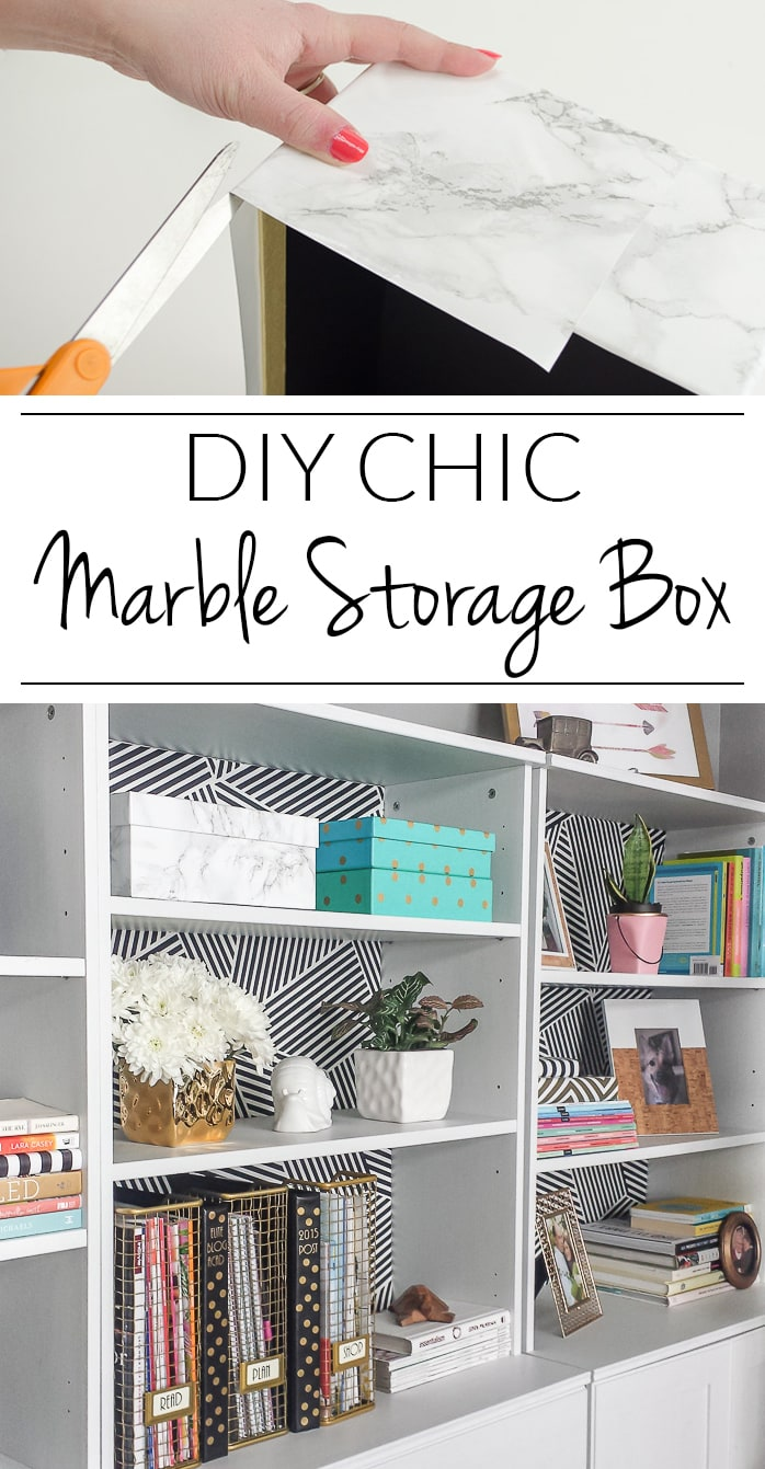 Transform a cheap photo box into display worth marble storage with this easy tutorial.