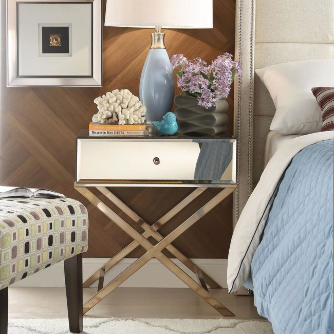 Mirrored Nightstands 10 Cheap Options Polished Habitat