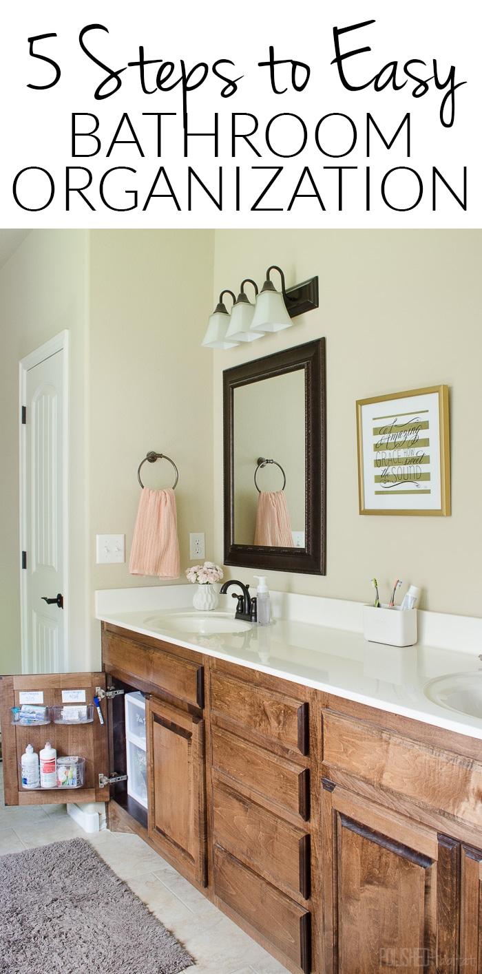 Bathroom Cabinets Organizing Ideas under sink organizing in 5 easy steps {bathroom side 2} - polished