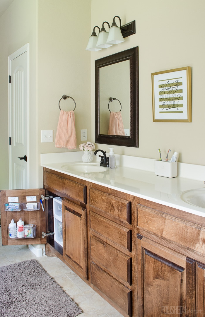 for more ideas check out how i organized the bathroom in style or how