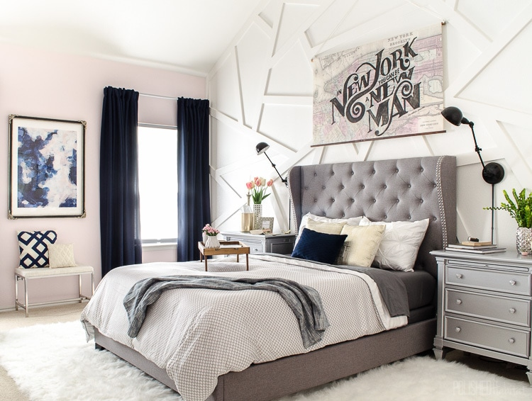 Modern Glam Master Bedroom
