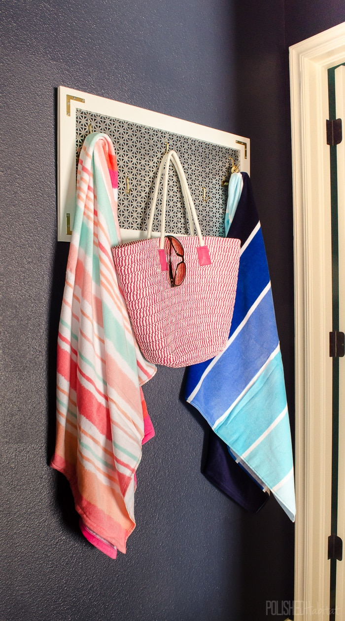 Coat racks aren't just for winter. Swap out jackets and gloves for pool gear in the summer!