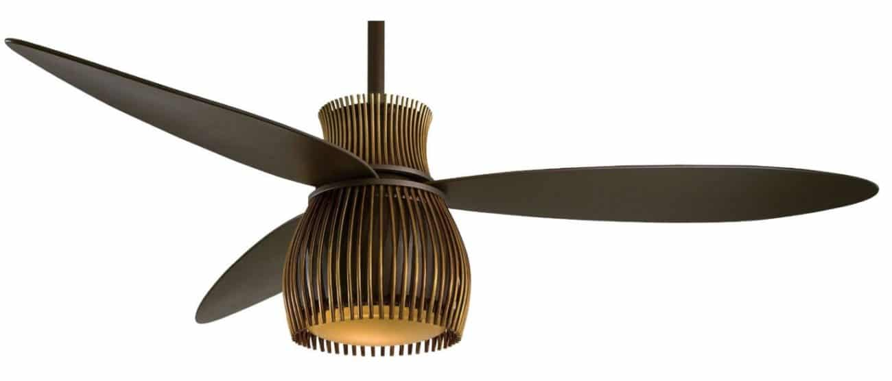 Love this modern ceiling fan! It could work in so many spaces - glam, eclectic, even mid-century!