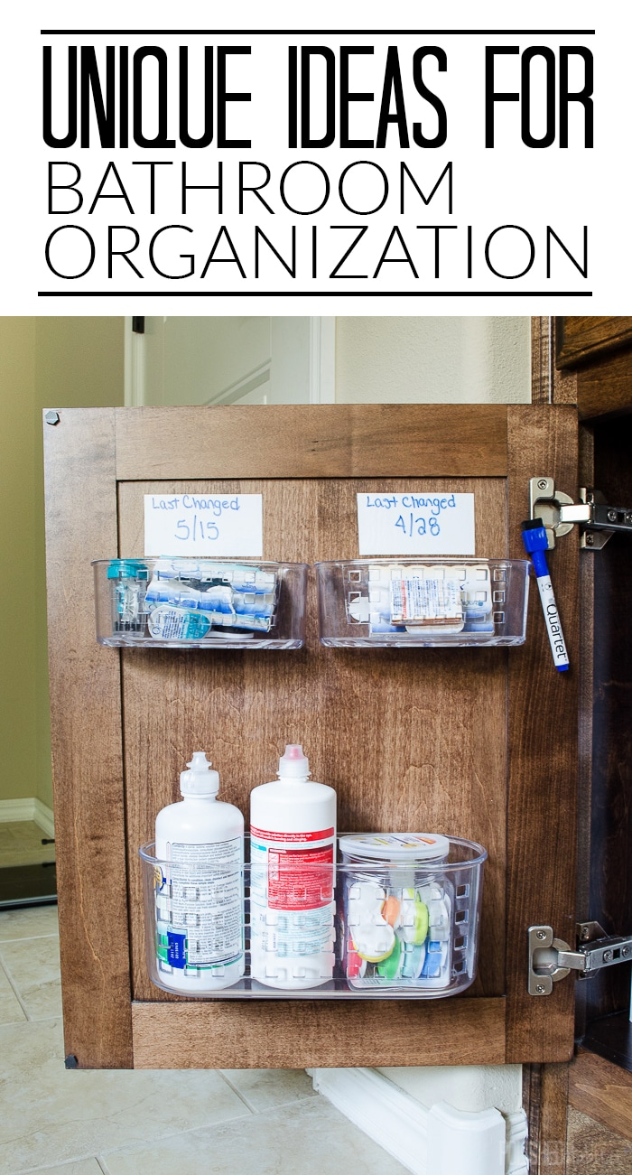 Organize Bathroom Cabinet Under Sink