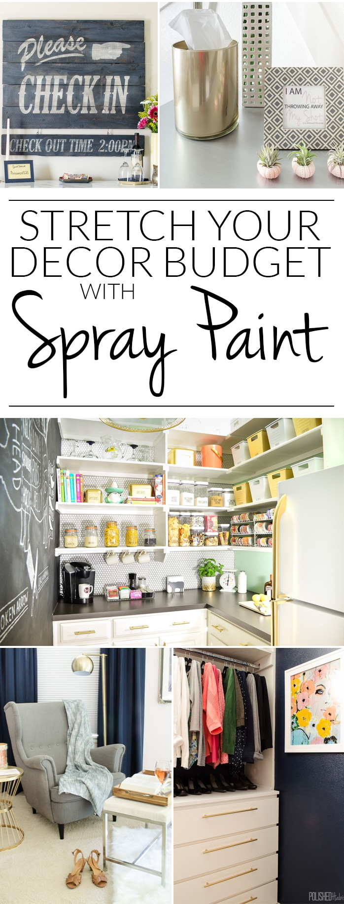 12 ways to stretch your decor budget with spray paint. Black Bedroom Furniture Sets. Home Design Ideas